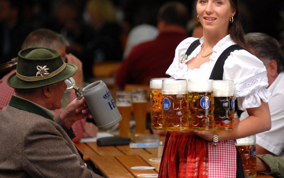 Bewölkter Deutscher Bierhimmel
